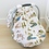 Thumbnail: Wyoming Collection Muslin Car Seat Cover
