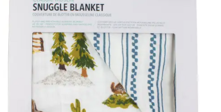 Wyoming + Western Stripe Classic Muslin Snuggle Blanket