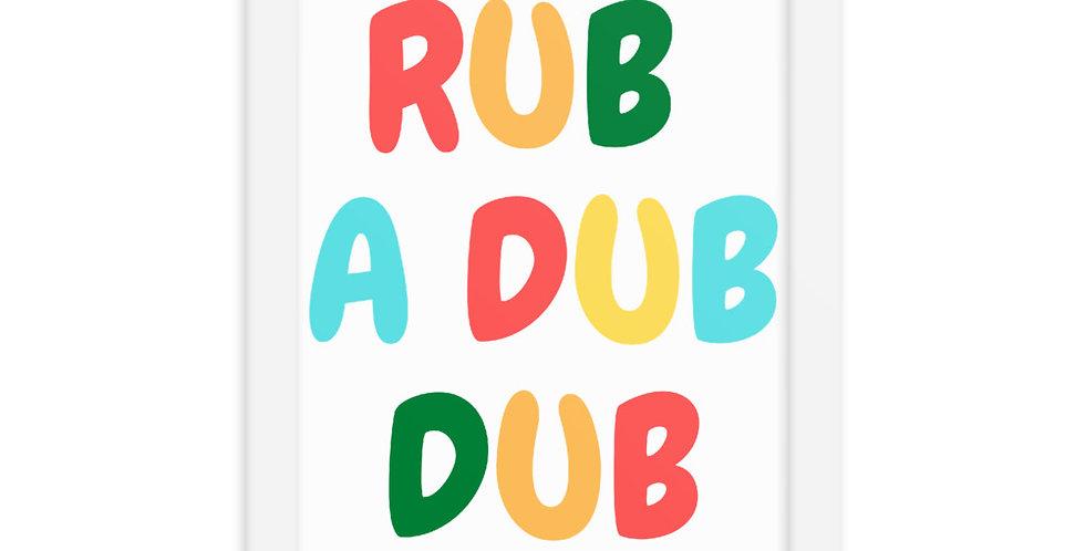Rub A Dub Framed Art
