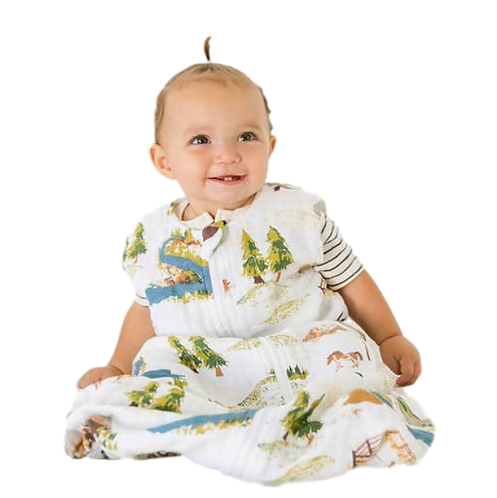Wyoming Collection Muslin Sleeper 6-12M