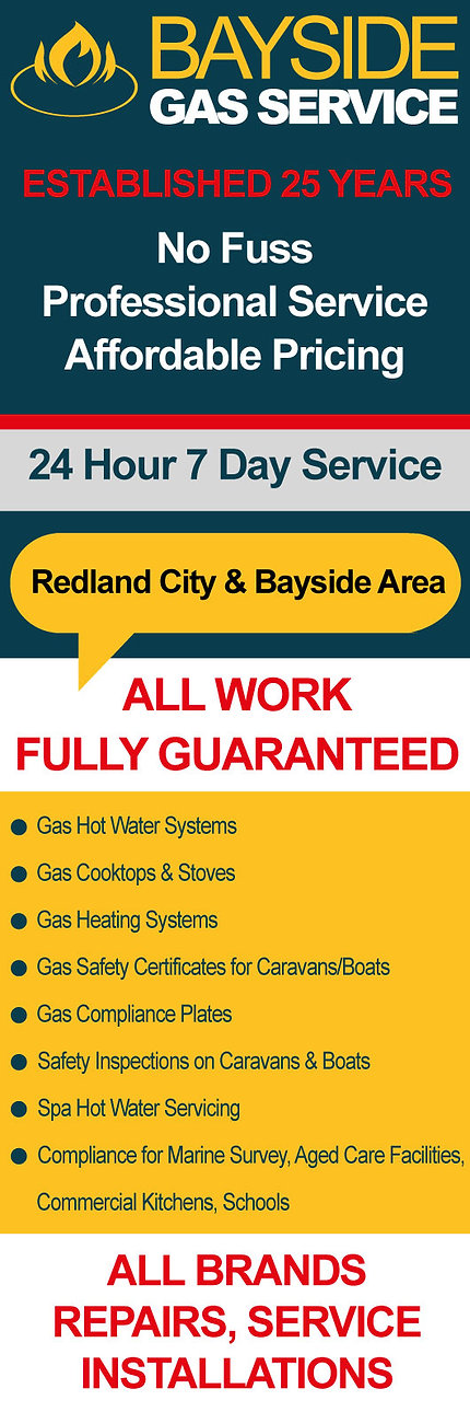 Gas Hot water Boiler Repairs and service Redlands Cleveland Thornlands Victoria Point Capalaba Birkdale Wellington Point Alexandra Hills Redland Bay Gas cooktop Installation
