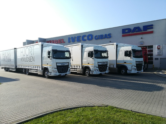 Kolejne pojazdy DAF pojechały do Wysoczki.
