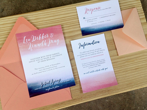 Hand Painted Watercolor | 5 Piece Suite
