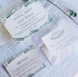 Grecian Garland Invitation Suite