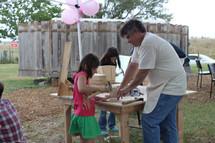 Rose's Husband, Jay--kids design-build