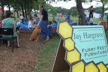 Rose's family sponsored Furry Feet Day @ farmers market