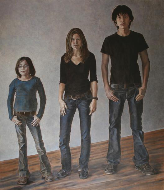Beskkaai, Michèle, & Chevez (self-portrait with kids)