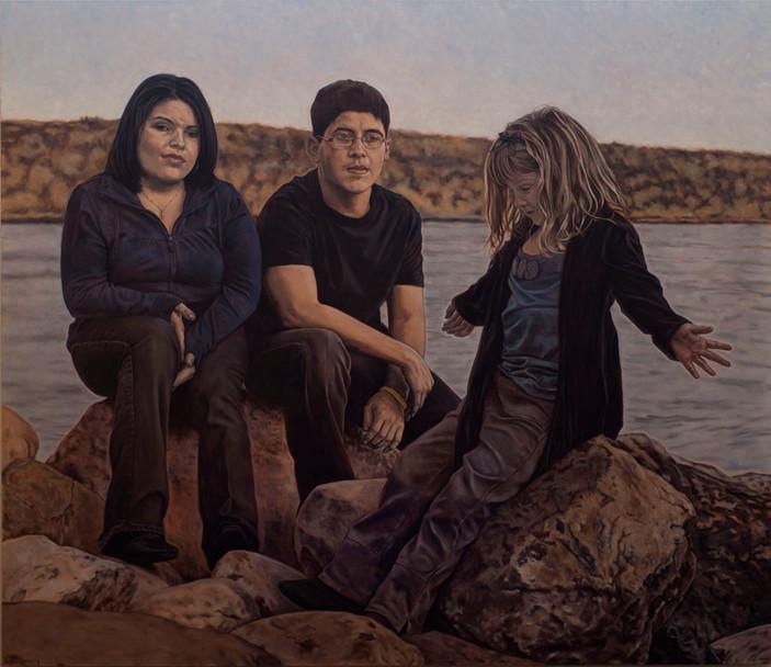 Lana Fidler with her children Preston & Brielle