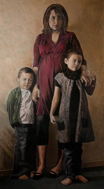 Felicia Gay and her children Osawask et Zoe