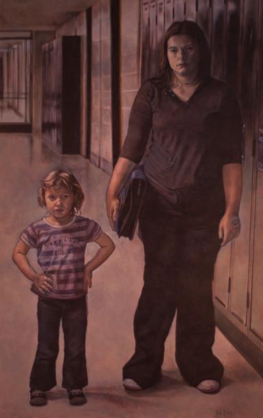 Brittany Friesen & her daughter Jordyn; Mount Royal Collegiate