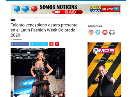 Talento venezolano estará presente en el Latin Fashion Week Colorado 2020