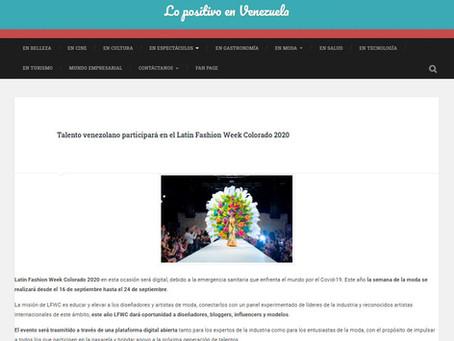 Talento venezolano participará en el Latin Fashion Week Colorado 2020