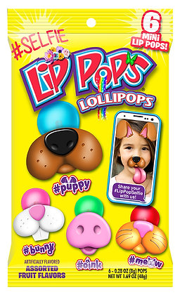 #selfie Lip Pops® Lollipops