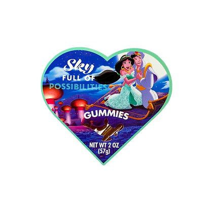 Princess Heart Shaped Box with Gummies