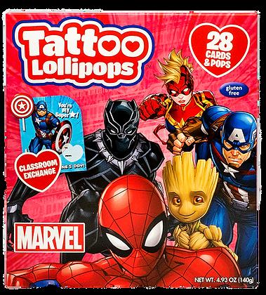 Marvel 28ct Tattoo Pop & Card Kit Classroom Exchange Kit