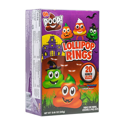 OH POOP! 20ct Decorated Ring Lollipops