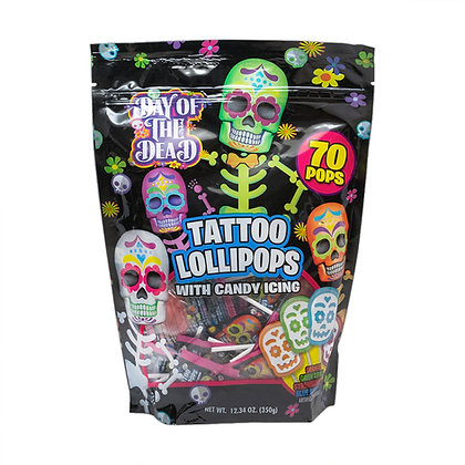 Day of the Dead 70ct  Tattoo Pop Stand Up Bag