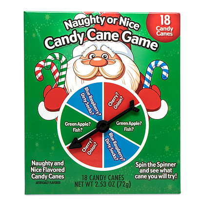 18ct Naughty & Nice Mini Holiday Candy Cane Game