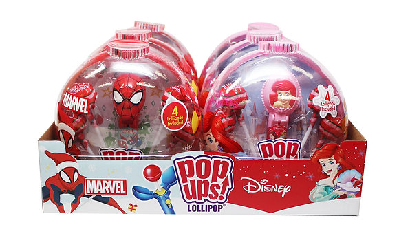 Disney Princess & Marvel POP UPS! LOLLIPOP® in Holiday Container