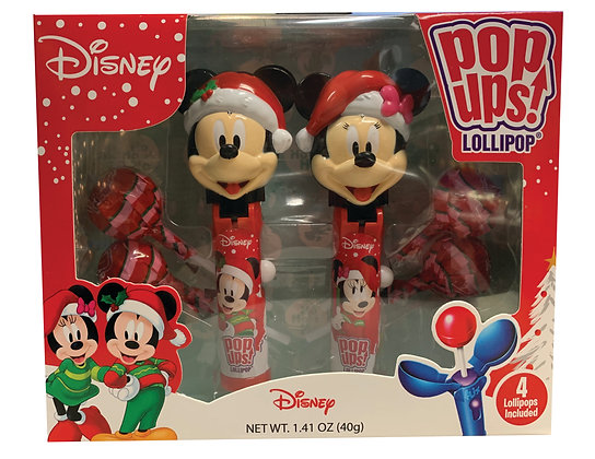 Christmas Mickey & Minnie 2pk POP UPS! LOLLIPOP® Gift Set