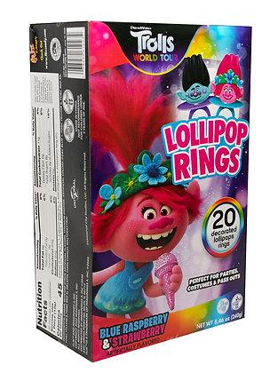 Trolls 20ct Decorated Lollipop Rings