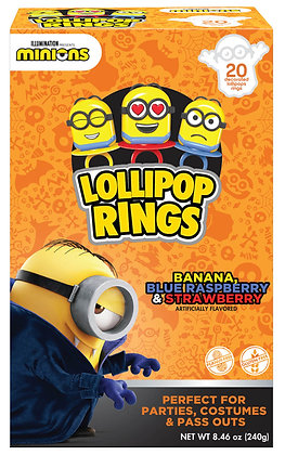 Minions 20ct Decorated Ring Lollipops