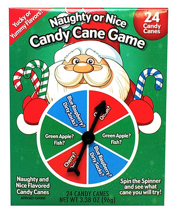 24ct Naughty & Nice Mini Holiday Candy Cane Game