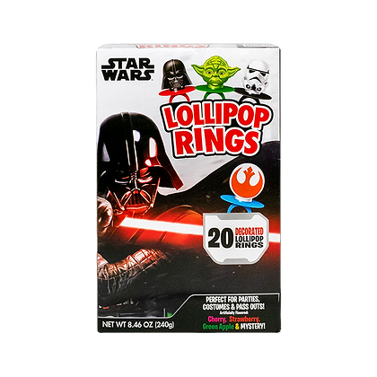 Star Wars 20ct Decorated Lollipop Rings