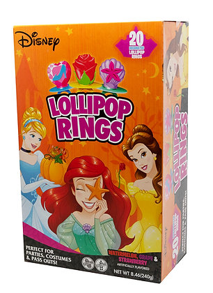 Disney Princess 20ct Decorated Ring Lollipops
