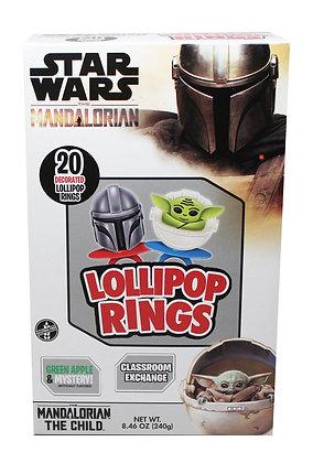 The Mandalorian® 20ct Decorated Lollipop Rings