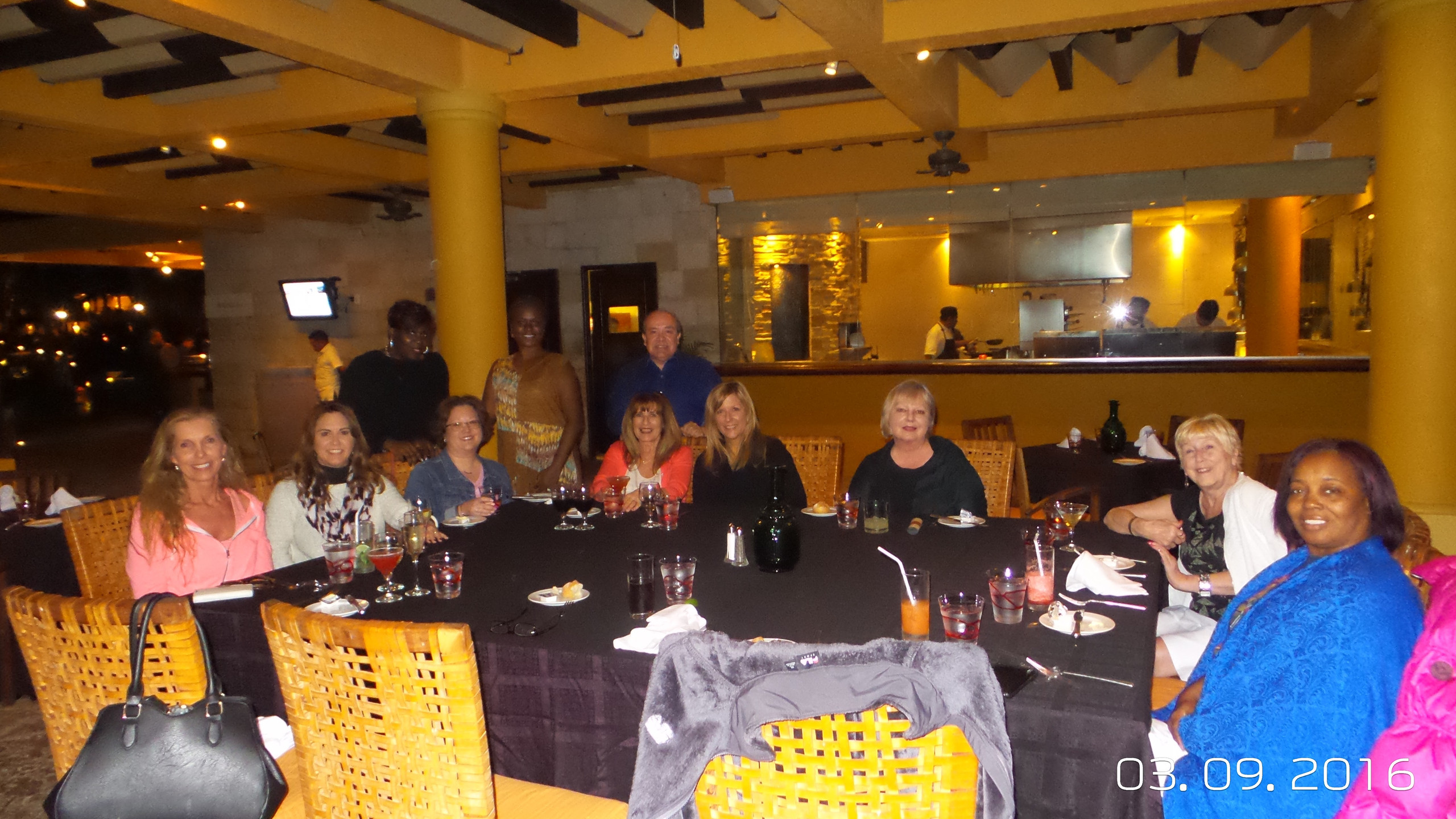 Group dinner at Peninsula.