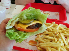 My favorite order is animal style cheeseburger, protein style. YUM!
