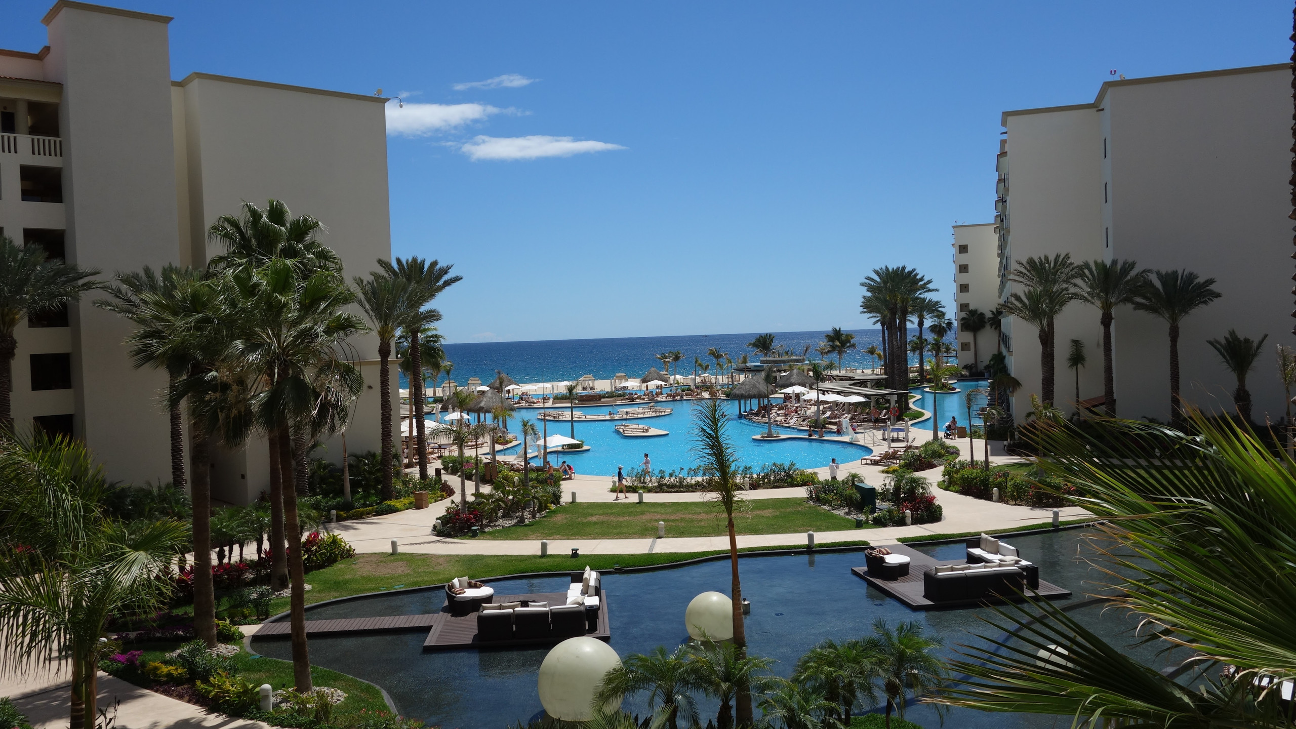 This is the view of the resort from the lobby.