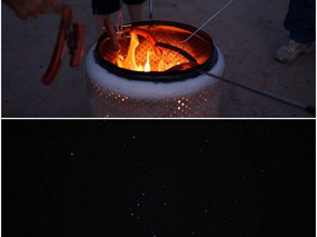 We had a wennie roast and some amazing stargazing.