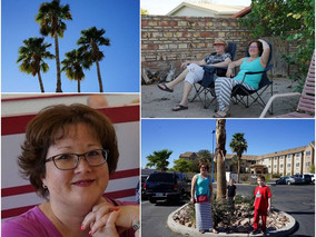 Palm trees ~ my mom and me ~ my family ~ my happy face after In-N-Out