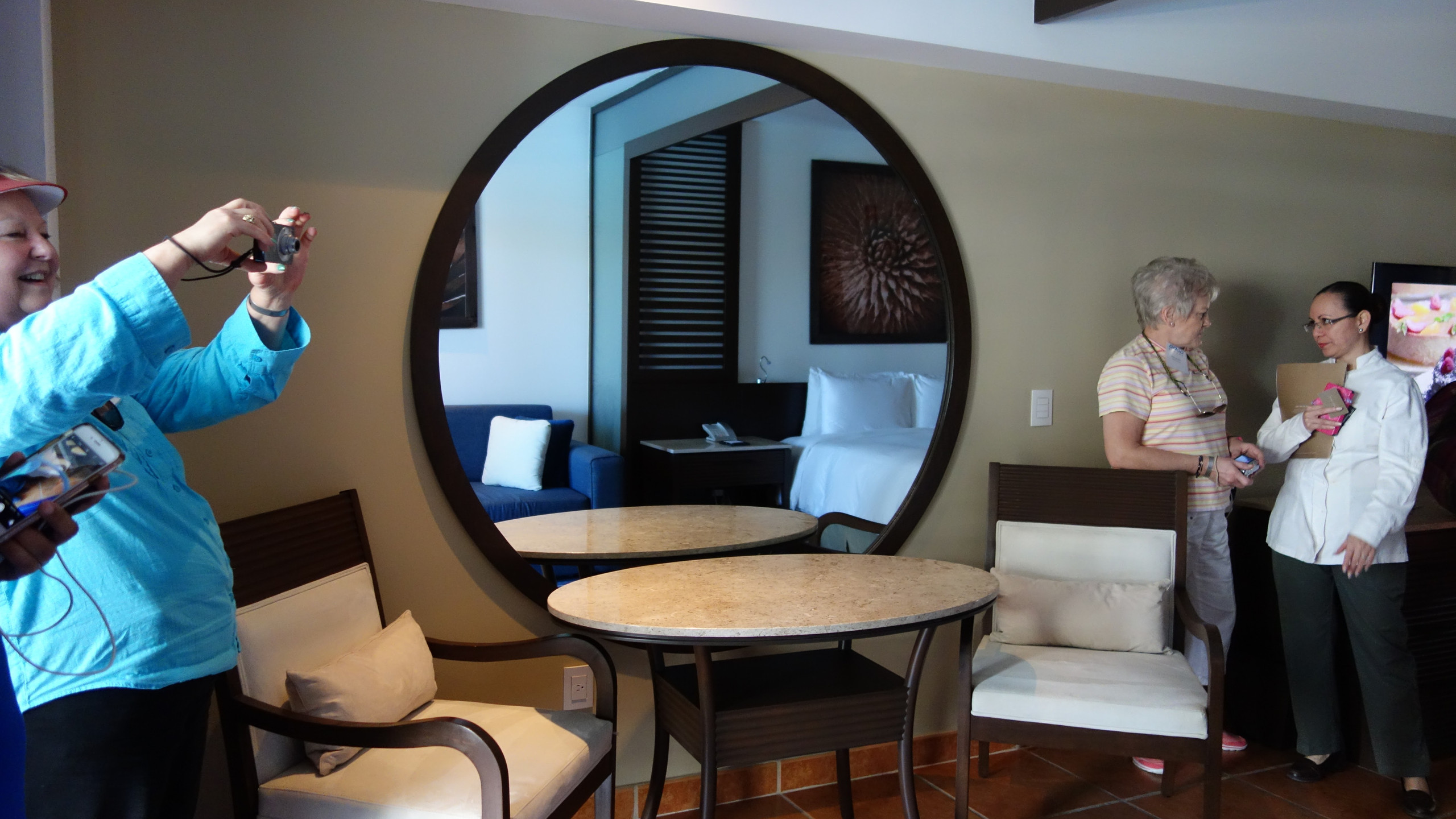 A nice seating area for when you get room service.