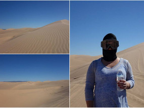 Who is this masked figure at the Glamis Sand Dunes?