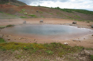 A geyser in Iceland