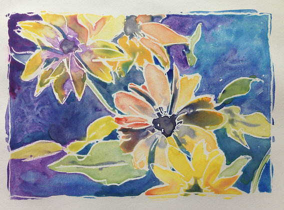Flower Power Monotypes