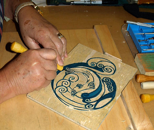 Roll-Out Printmaking: Shape and Color