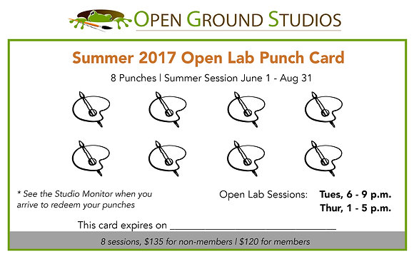 Summer 2017 Open Lab Punch Card