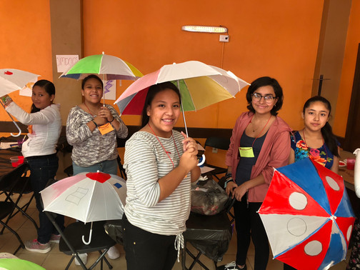 Painting our umbrellas