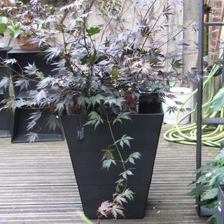 Jardinière en ardoise, h 60 cm__Planter
