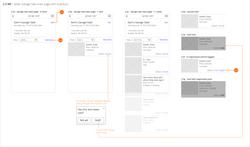 List display Wireframes