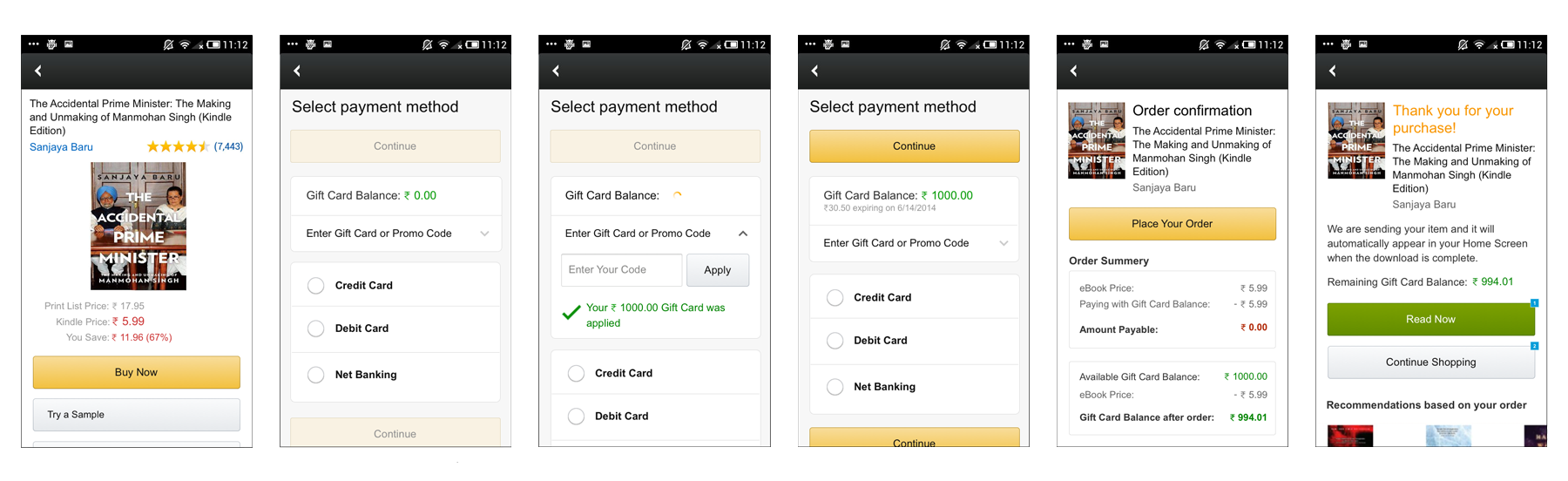 Mobile India Payment Flow