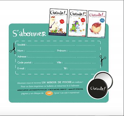 Abonnement au magazine Crocoule (abonner)