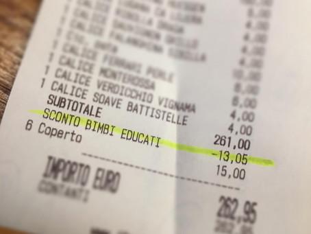 Insolite : Un restaurateur réduit votre addition si vos enfants se tiennent bien à table.