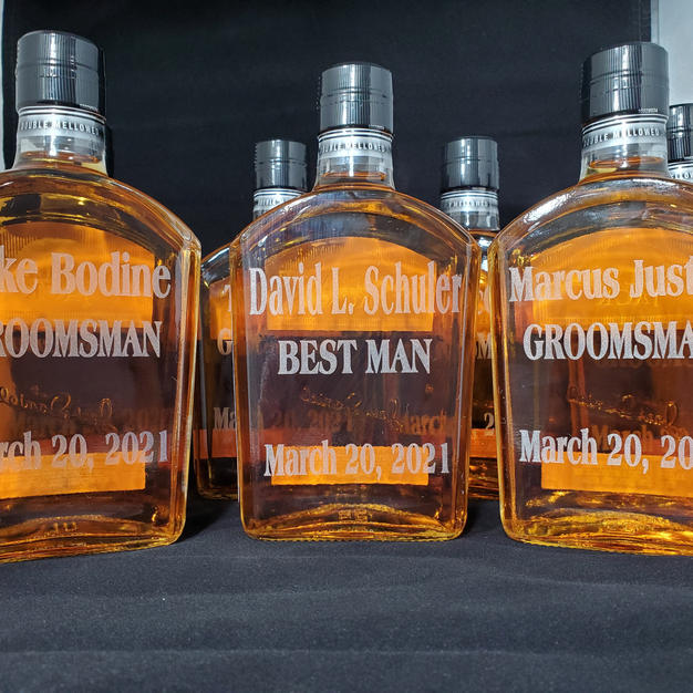 Engraved Whiskey Bottles
