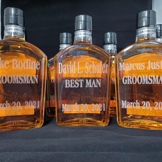 Engraved Whiskey Bottles