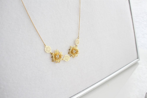 Sunflower ネックレス (Gold)